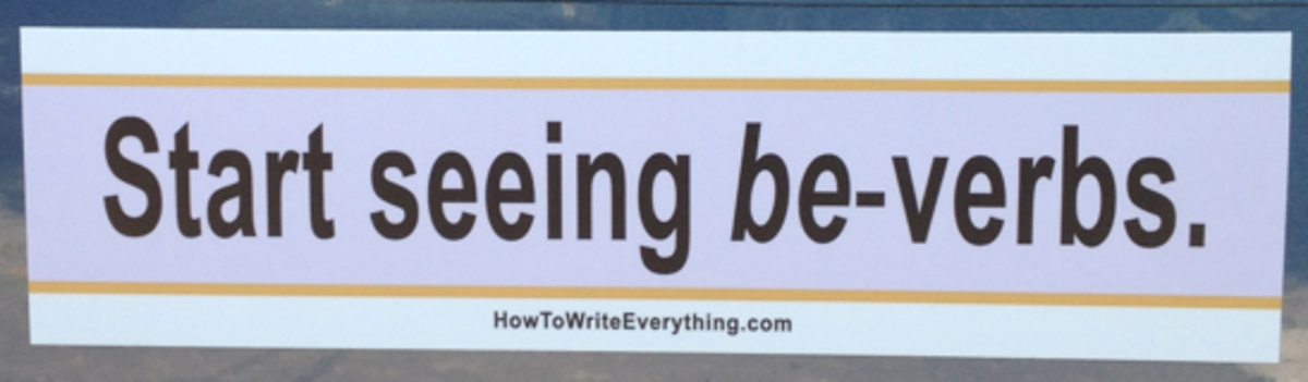 Headline for Be-Verbs: The Bumper Sticker