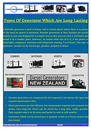 Before Choosing any Type of Generator in New Zealand