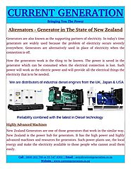 New Zealand Generators Highly Advanced Machines