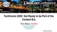 TechComm 2020 - Get ready to be part of the content era