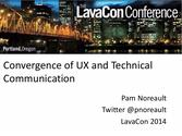 Convergence of UX and Technical Communication