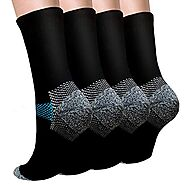 Sport Plantar Fasciitis Compression Socks Arch Support Ankle Socks - Best For Running, Athletic, and Travel (Small/Me...