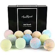 Luxury Bath Bombs For Women - Gift Set of 12 Large Bathbombs With Organic Essential Oils - Natural Vegan Soap For Moi...