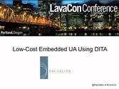 Low-Cost Embedded UA Using DITA