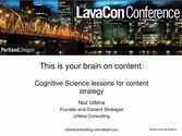 This is Your Brain on Content: Cognitive Science Lessons for Content Strategy