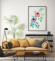 Watercolor Flowers Paiting, Wall Art, Wall Decor, Housewarming Gift, Nature Painting