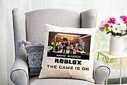 Personalized Roblox Pillow, Game Character with favorite game background and Name Masks, Personalized Pillow