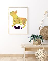 Personalized Pet Print, Pet Print in Frame, Pet Birthday, Unique pet gift, Welcome Home Pet Gift, Pet Parent Gift