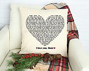 Personalized Gift for Mom - Heart song pillow - Personalize pillow gift - Gift for Mom - Mother's day - Wedding Gift ...