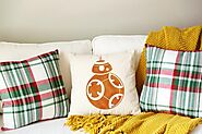 BB8 Pillow, Star Wars Throw Pillow Cover - Star Wars Superhero - Star Wars inspired Pillow - Star Wars Bot pillow - S...