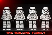 Star Wars Stormtrooper Family, Star Wars Custom Gift Ideas, Personalized Star Wars Gift.