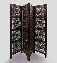 Handcrafted Wooden Room Divider / Partition Screen