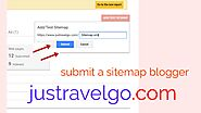 Submit sitemap Blogger In Hindi