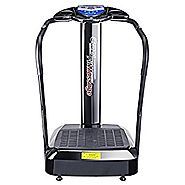 Pinty 2000W Whole Body Vibration Platform Exercise Machine with MP3 Player (Black)