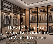 How to Turn Your Spare Bedroom into a Walk-In Closet