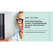 Why Alexa Is Not Working 1-8007956963 Alexa Not Responding -Call Now