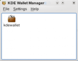 KDE Wallet Manager