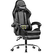 GTPLAYER Gaming Chair with Footrest
