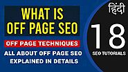 What is Off Page SEO or OFF Page Optimization | Briefing on Off Page SEO in Hindi