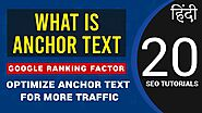 What is Anchor Text and Importance in SEO | Optimize for More Organic Traffic