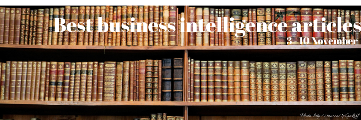 Headline for Best business intelligence articles, 3 - 10 November