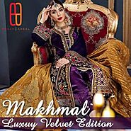 Makhmal Luxury Velvet Edition by Emaan Adeel | Shadi Dress