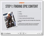 "Keep looking for ""Epic"" content"