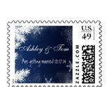 Elegant Wedding Christmas Postage Stamps 2014