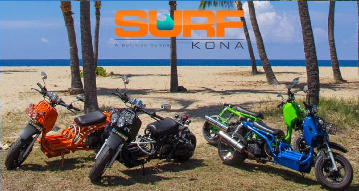 Headline for Surf Kona Scooter Rental - Premier Hawaiian Style Scooter Rentals