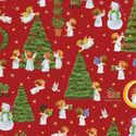 Caspari The Spirit of Christmas Continuous Gift Wrapping Paper Roll, 8-Feet, Red