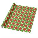 Red and Green Quatrefoil Pattern Christmas