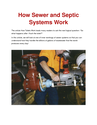 How Sewer and Septic Systems Work | edocr