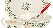Christmas Holiday Dishware: Lenox Holiday Christmas Serving Pieces - Reviews