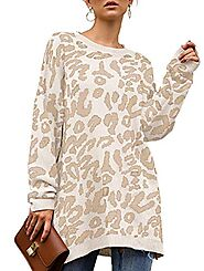 Womens Leopard Print Pullover Oversized - Buy Online in United Arab Emirates at Desertcart