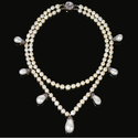 MAGNIFICENT NATURAL PEARL AND DIAMOND NECKLACE