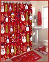 Festive Christmas Shower Curtains Sets
