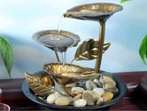 Modern Textured LED Tabletop Fountain