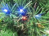 5.5 Foot Prelit Green Artificial Fiber Optic Christmas Tree + Multi Color LED Lights