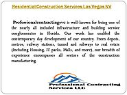 Residential Construction Services Las Vegas NV