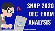 SNAP 2020 Dec Exam Analysis - Expected Cut-Off for Top 5 MBA Symbiosis Institutes