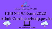 RRB NTPC EXAM 2020 ADMIT CARDS