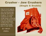 Lubricated Double Toggle Jaw Crusher Features From Manufacturers' Diary