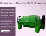 Crushers For Medium To Hard Materials- Single And Double Toothed Roll Crushers
