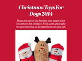 Christmas Toys For Dogs 2014