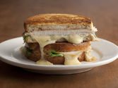 Grilled Turkey, Brie, and Apple Butter Sandwich with Arugula Recipe