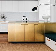 Gold Metallic Cabinets