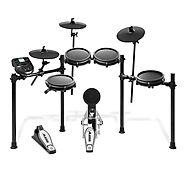 Alesis Drums Nitro Mesh Kit - Eight Piece Mesh Electric Drum Set With 385 Electronic / Acoustic Drum Kit Sounds and S...