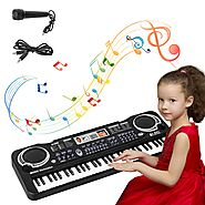 sanlinkee Piano Keyboard, 61 Keys Electronic Piano Portable Digital Music Keyboard with Microphone,Kids Educational M...