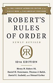 Robert's Rules of Order Newly Revised, 12th edition- Buy Online in Saudi Arabia at saudi.desertcart.com. ProductId : ...