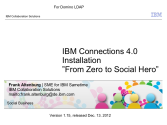 IBM Connections 4.0 Installation - From Zero To Social Hero 1.16 fo...